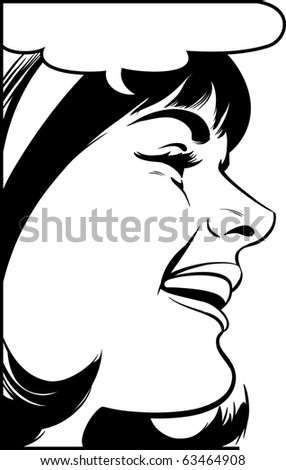 Laughing Woman - stock photo
