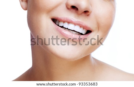 Laughing woman mouth