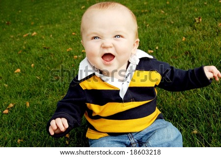 Laughter in the Fall - stock photo