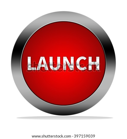 Launch button isolated - stock photo