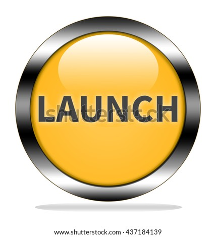 Launch button isolated. - stock photo
