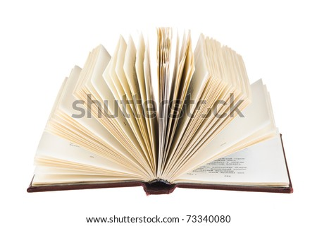 Launched book isolated on white background