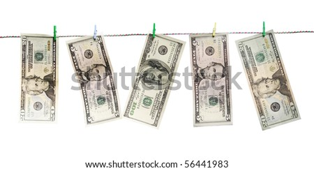 laundered dollars on a rope