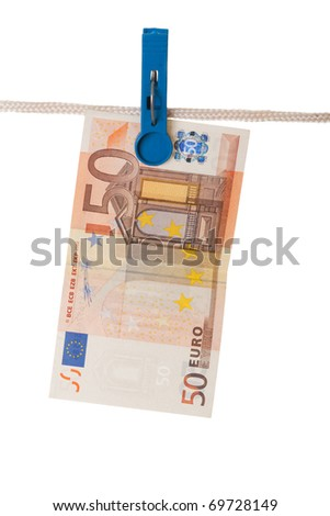 Laundering Money - stock photo