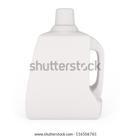 Laundry Detergent Bottle isolated on white - 3d illustration - stock photo