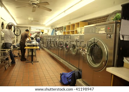 laundry interior - stock photo