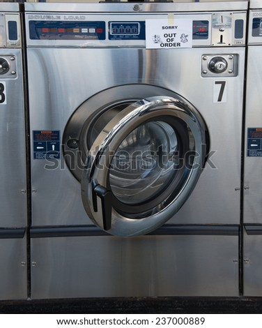 laundry machine is out of service - stock photo