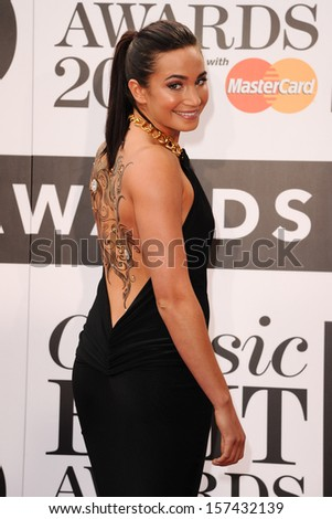 Laura Wright arrives for the Classic Brit Awards 2013 at the Royal Albert Hall, London. 02/10/2013 - stock photo
