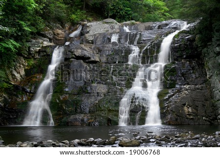 Laurel Falls, Carter County, Tennessee Horizontal - stock photo