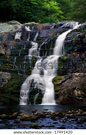 Laurel Falls, Carter County, Tennessee Vertical - stock photo