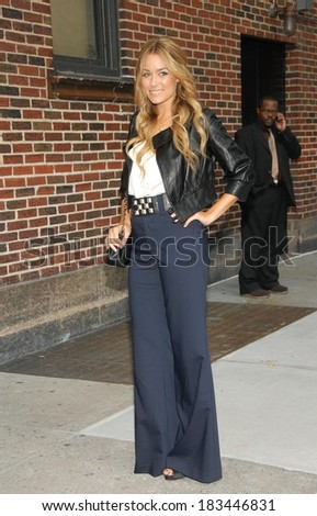 Lauren Conrad at talk show appearance for The Late Show with David Letterman, The Ed Sullivan Theatre, New York, NY, October 27, 2008 - stock photo