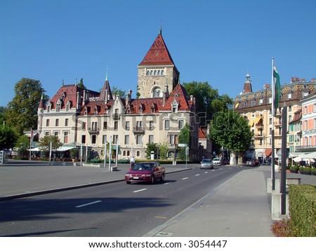 Lausanne Switzerland - stock photo