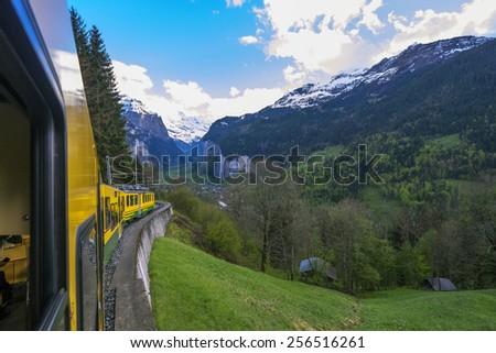 Lauterbrunnen Valley - stock photo