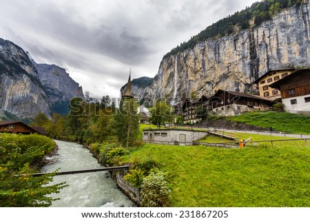 Lauterbrunnen Valley in Switzerland