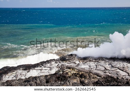 Lava field, Big Island, Hawaii - stock photo