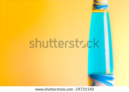 lava lamp isolated used in a composition - stock photo