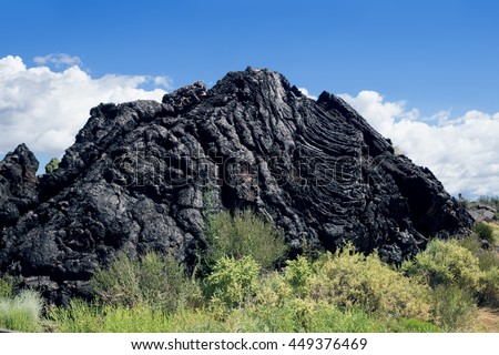 Lava Mountain near  the walkway through lava fields at Valley of  Fires Recreation Area,  Carrizozo, New Mexico