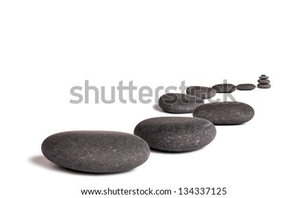 Lava stones, isolated on white background - stock photo