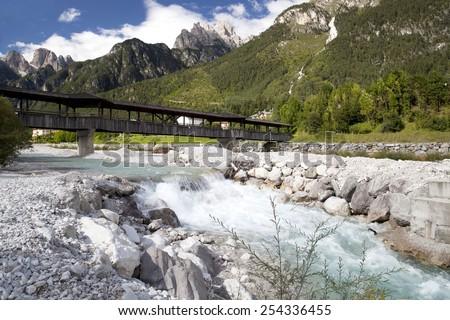 Lavaredo mountain - stock photo