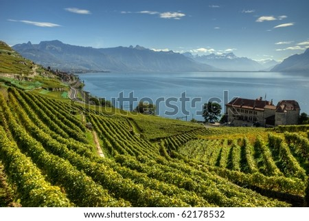 Lavaux Switzerland HDR photography