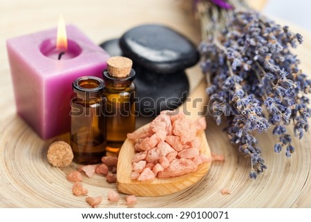 Lavender, Aromatherapy Oil, Aromatherapy. - stock photo