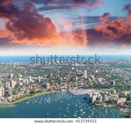 Lavender Bay aerial view, Sydney. - stock photo
