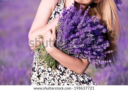 Lavender bouquet - stock photo