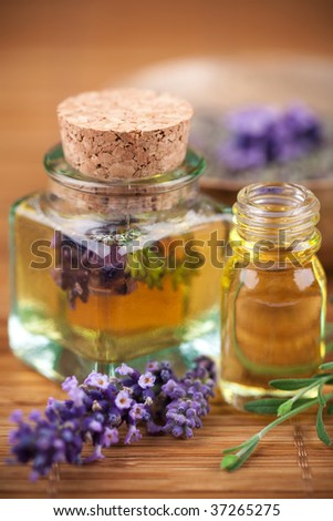 Lavender cosmetic - stock photo