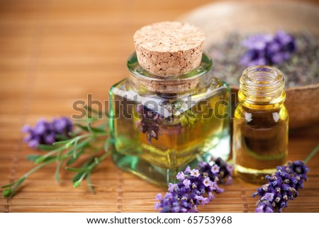 Lavender cosmetic - stock photo