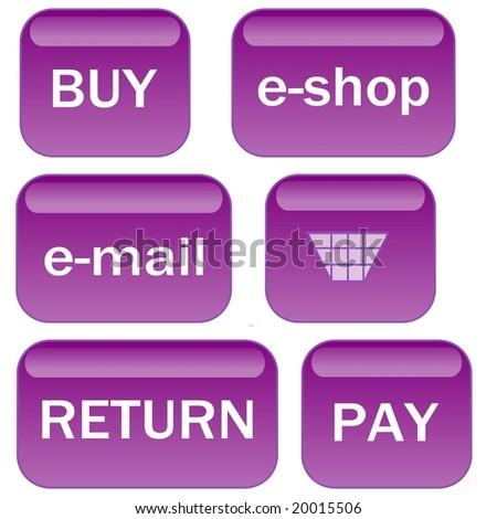 Lavender e-shop icons - stock photo