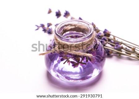 Lavender flower,oil,salt. beauty spa concept. - stock photo