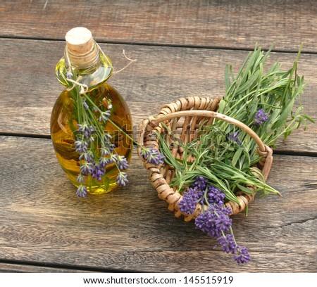 lavender oil, - stock photo