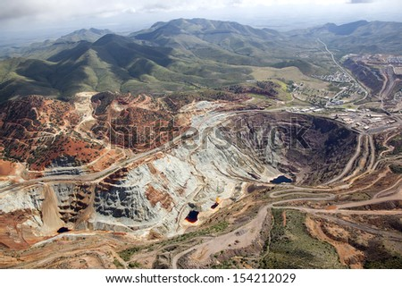 Lavender Open Pit mine in Bisbee, Arizona - stock photo
