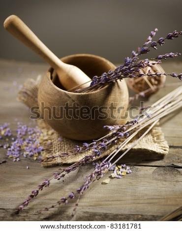 Lavender Organic Spa - stock photo