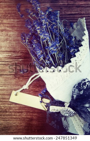 Lavender over wooden background. - stock photo