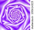 Lavender Rose Spiral . Computer generated abstract image with a spiral rose design in silky lilac coloring - stock photo