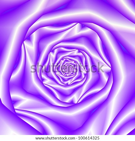 Lavender Rose Spiral . Computer generated abstract image with a spiral rose design in silky lilac coloring