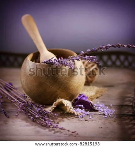 Lavender Spa.Natural Organic Cosmetics - stock photo