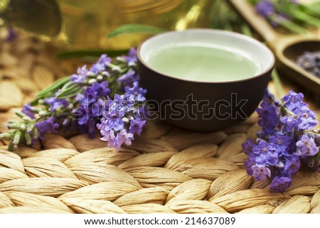 Lavender tea  - stock photo
