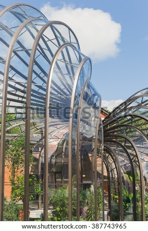 Laverstoke Mill, England - May 2015: Photo captured of the Bombay Sapphire Distillery, the re-development of the 300 year old paper Mill