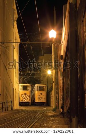 Lavra Funicular, Lisbon, Portugal, Europe - stock photo