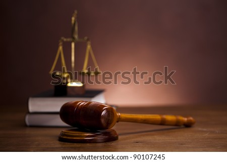 Law and justice concept, Gavel - stock photo