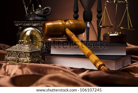 Law and justice concept,wooden gavel - stock photo