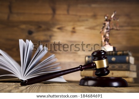 Law and justice concept, wooden gavel - stock photo