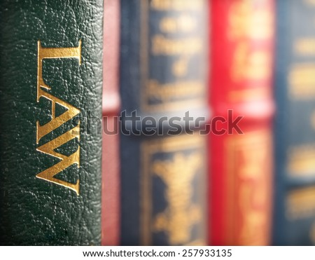 Law book concept - stock photo