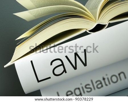 Law (book reviews) - stock photo
