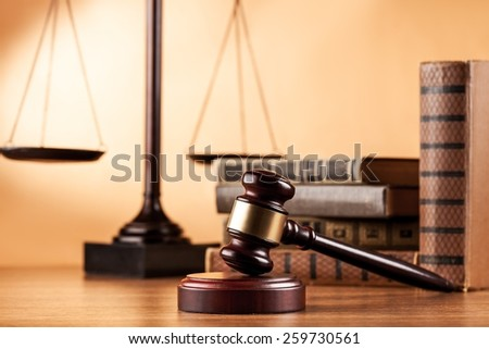 Law, business, scales. - stock photo