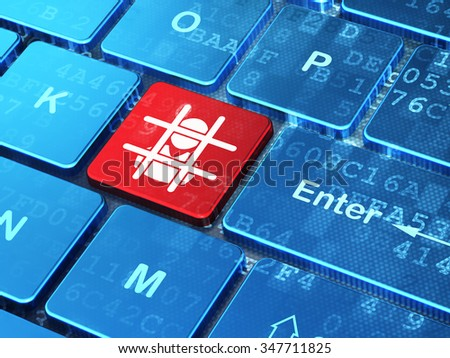Law concept: computer keyboard with Criminal Freed icon on enter button background, 3d render - stock photo