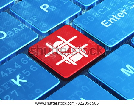 Law concept: computer keyboard with Criminal icon on enter button background, 3d render - stock photo