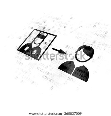 Law concept: Criminal Freed on Digital background - stock photo
